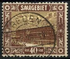 Saar 1922 SG#91, 40c Pottery Mettlach Used #D14719