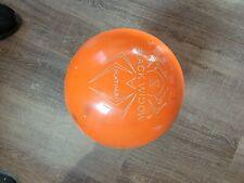used 15lb Hammer orange sparkle bowling ball