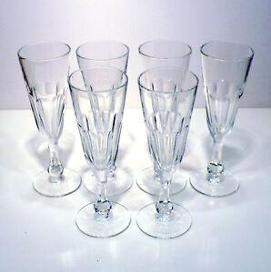 Gruppo di 6 flutes calici bicchieri cristallo anni '70 vintage v331