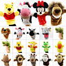 UK Kid Baby Girl Boy Cartoon Animal Hand Sock Glove Puppet Finger Sack Plush Toy
