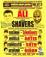 Earnie Shavers Signed 8x10 Fight Poster Photo vs Muhammad Ali - Ali Quote PSA