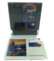 Mega Man 3 Authentic w/ Manual NES Nintendo Cleaned, Tested, Works w/protector