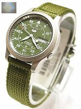 Gift + SNK805 Military Style Automatic Men's Green Watch SNK805K2 New SEIKO 5