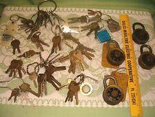 Large Mixed Lot of Vintage Locks Keys .. Cars Padlock house.. Craft Steampunk