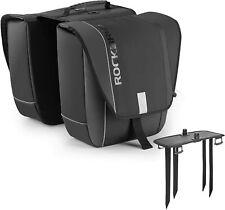 ROCKBROS Doppel Gepäckträger Tasche Fahrradtasche Gepäcktasche 30L Tragegriff