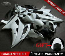 W/ Seat Cowl Unpainted Bodywork Fairing Kit White for YAMAHA YZF R6 2008-2016