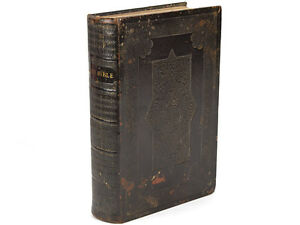 1875 Leatherbound Church Bible by Eyre & Spottiswoode