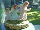 SCHMID 1992 PORCELAIN MUSIC BOX - plays `Angels we have heard on high `