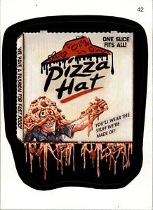WACKY PACKAGES   2007 #  42   PIZZA  HAT