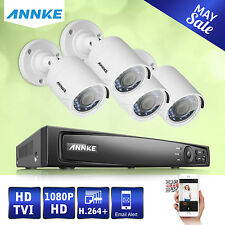 Annke 4CH Full 1080P HD DVR 2.0MP Outdoor CCTV Home Security Camera System Kit