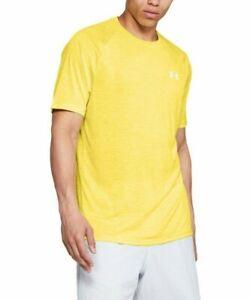 Under Armour Men's Yellow UA Tech Crew-Neck Short Sleeve T-Shirt
