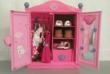 Build A Bear Bear Armoire Clothes Shoes Case Wardrobe Pink Purple Accessories