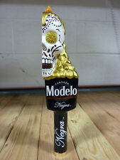 Modelo Negra Dia De Los Muertos Half Skull Beer Tap Handle