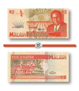 Malawi 5 Kwacha 1995 Unc Pn 30, Banknote24