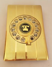 Vintage Telephone Index Rotary Dial  Address Book Gold Tone Eagle Brand Retro