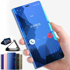 Leather Flip Stand Smart Clear View Mirror Case Cover For Huawe Mate 20 Lite Pro