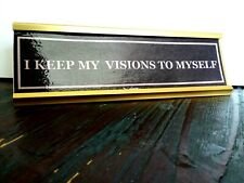 Fleetwood Mac / Stevie Nicks - Gold Desk Plaque - I Keep My Visions To Myself
