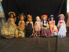 8 inch Plastic Dolls from 70's. Very Good Condition