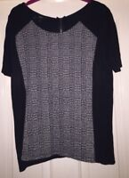 Next Black + White Mix Top, Size 14 - Lovely!