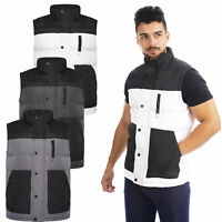 Mens Gilet Body Warmer Quilted Padded Sleeveless Zip Up Vest Jacket Coat Work