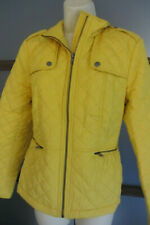 Talbots Jacket Coat Woman Yellow Quilted Military Small Lightweight