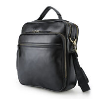 Men Genuine Leather SATCHEL Business Work Shoulder Messenger Crossbody Sling Bag