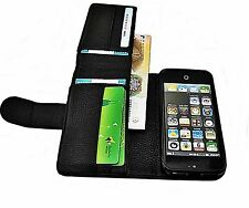 Real Genuine Leather Case Cover Wallet for Smart Phones Lichee Gift Idea UK