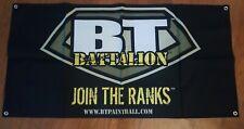 "New Bt Battlalion Paintball Promo Dealer Store Banner Big 47"" x 24"""
