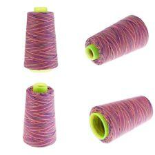 4pcs/Set 40S/2 Rainbow Overlocking Sewing Machine Polyester Thread All Purpose