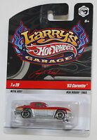 Hot Wheels LARRY'S GARAGE '63 CORVETTE RED GRAY REAL RIDERS 1:64 VHTF
