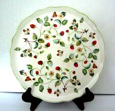 """Old Foley James Kent Staffordshire Strawberry and Butterfly 10.5"""" Plate Cake VTG"""