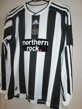 Newcastle United 2009-2010 Home Football Shirt BNWT Manga Larga Grandes Chicos 32122