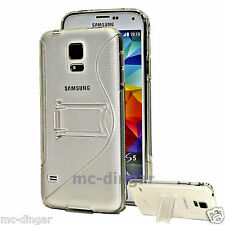 Clear Ultra Slim Premium TPU Best Cover with Stand  Case For Samsung Galaxy S5