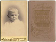 YOUNG CHILD W/ BLOND HAIR BY GARDNER, BROOKLYN, N.Y., CABINET PHOTO