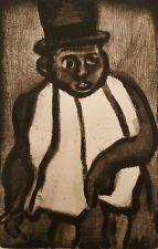 Georges ROUAULT : L'homme à l'écharpe # GRAVURE SIGNEE # RARE # 1928 # PERE UBU