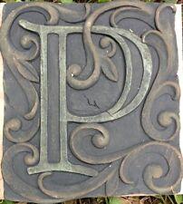 P Stone, plaque, stepping stone,  plastic mold, concrete mold, cement, plaster