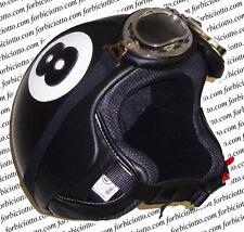 CASCO IN PELLE X HARLEY DAVIDSON BALL 8 BILIARDO OTTO VESPA MOTO GUZZI TRIUMPH