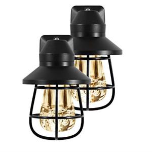 GE Vintage LED Night Light, Plug-in, Dusk-to-Dawn Sensor, Farmhouse, Rustic, for