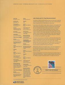 #0528 37c Flag and Liberty 7 Var. #3965 Souvenir Page