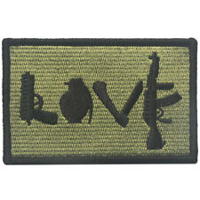 Love Gun Grenade Military Army Tactical Morale Badge Funny Hook Loop Decal Patch