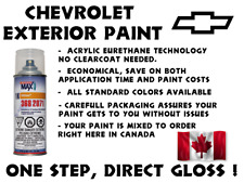 CHEVROLET DO IT YOURSELF, EASY 1K CAR PAINT SPRAYCAN FOR TOUCH UP, MOST COLORS
