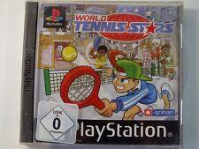 !!! PLAYSTATION PS1 SPIEL World Tennis Stars, gebraucht aber GUT !!!