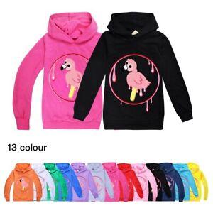 Boys Girls Hoodies Flamingo Flim Flam Casual Hooded Sweatshirt Tops Xmas Gift