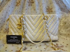 Authentic CHANEL TOTE Leather Tote Shoulder Bag Purse+CARD T264 GREAT CONDITION
