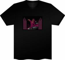 Sonido activado Panel LED intermitente camiseta Gallina Fiesta Stag Club Mujer Dj Pequeño S