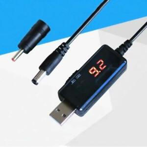 USB Booster Cable 5V Step Up to 9V 12V Voltage Converter 1A Step-up Display BGH