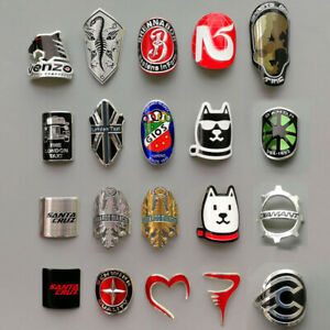 Metal Bike Head Badge BMX Decals Bicycle Fixed Gear Tube Frame Stickers