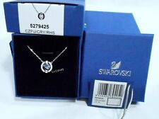 Swarovski Sparkling Dance Round Necklace, Blue 3D Cage Crystal Authentic 5279425