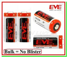4 Pile 3v cr123 Batteria Litio EVE 123 CR17345 Softair Sensori Allarmi Foto BULK