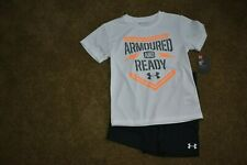 UNDER ARMOUR BOYS 6 2-PC NWT ''ARMOURED AND READY''